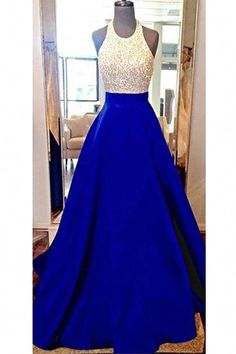 New Design Long Royal Blue Prom Dresses,Halter Beading Charming Prom Gowns,Modest Evening Dresses Pagent Dresses, Royal Blue Prom Dresses, Grad Dresses, Homecoming Dresses, Evening Dresses, Prom Gowns, Prom Dresses Long Modest, Dress Long, Pretty Dresses