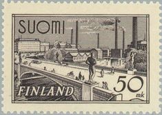 Stamp Collecting, Postage Stamps, Finland, Bridge, Architecture, Gallery, Cards, Vintage, Seals