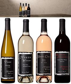 "Oregon Sweet Wine ""Sweet Occasion"" Dinner Entertaining Kit Bundle Box Mixed Pack, 4 x 750 mL, by Naked Winery"