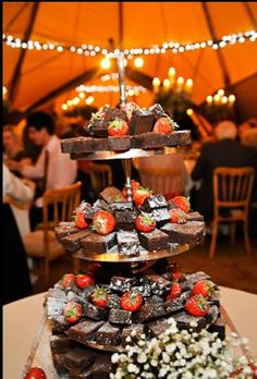 I'm sure the moment Steve fell in love with me was when he tried my brownies for the first time - thinking of having a brownie tower as a wedding cake alternative.