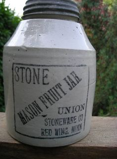 Stone Mason Fruit Jar Red Wing MINN - would love one of these!