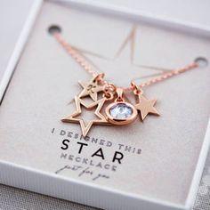 Halskette mit Sternen selbst gestalten - Muttertagsgeschenke