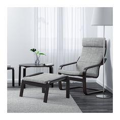 POÄNG Chair - Isunda gray, black-brown - IKEA