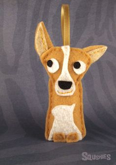Chihuahua Felt Dog Ornament, Felt Christmas Ornament - Habanero the Chihuahua