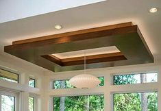 Stunning Wood Ceiling Design Ideas To Spice Up Your Living Room - ChecoPie Rugs In Living Room, Living Room Decor, Wooden Ceilings, Home Ceiling, False Ceiling Design, Apartment Interior, Interior And Exterior, Modern, House Design