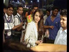 Malaika Arora Khan at Mumbai Airport leaving for IIFA Awards 2014.