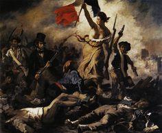 De vrijheid voert het volk aan, E.DELACROIX, 1834 #romantiek #nationalisme #heroïsme #vrijheid #escapisme #gevoel #mysterie Eigen volk en cultuur verheerlijken. Het fok voorstellen als een samenhangende gemeenschap.