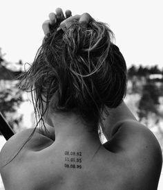 Met een bijzondere datum voor je op je nek tatoeage