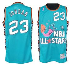All Star Mitchell and Ness Bulls #23 Michael Jordan Embroidered Baby Blue NBA Jersey! Only $20.50USD