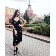 My daily look, dress by Material Girl, Shoes by  Aldo. And Kremlin palace behind 😊😊😊