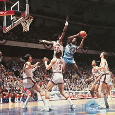 Big Game James Worthy taking it to Ralph Sampson Basketball Finals, Basketball History, Basketball Legends, Basketball Shoes, Carolina Pride, North Carolina, Carolina Blue, James Worthy, Ncaa Final Four