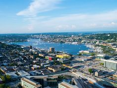 South lake union Seattle this view is from the space needle