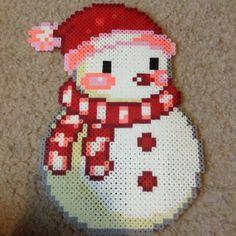 Christmas snowman perler beads by ltl03