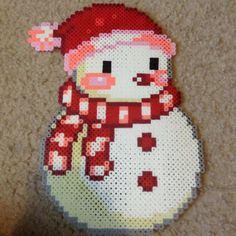 Christmas snowman perler beads by ltl03