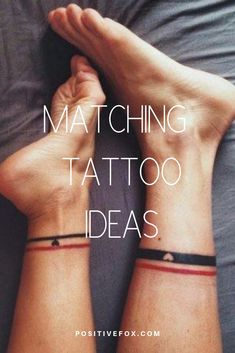 #coupletattoos  Check out our website for more Tattoo Ideas 👉 positivefox.com Matching Tattoos, Couple Tattoos, Tattoos With Meaning, Unique Tattoos, Meaning Tattoos, Symbolic Tattoos, Meaningful Tattoos, Matching Relationship Tattoos, Pair Tattoos