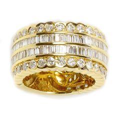 <li>White diamond ring</li> <li>18k yellow gold jewelry</li> <li><a href='http://www.overstock.com/downloads/pdf/2010_RingSizing.pdf'><span class='links'>Click here for ring sizing guide</span></a></li>