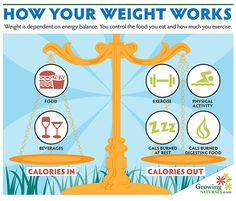 Weight Management Basics – Calories In vs. Calories Out | Growing Naturals http://growingnaturals.com/2013/11/weight-management-basics/