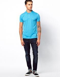 Light blue polo shirt SS13
