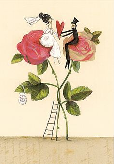 silke leffler - Buscar con Google Wedding Illustration, Illustration Art, Illustrator, Baby Art, Happy Marriage, Whimsical Art, Art World, Paper Dolls, Wall Prints