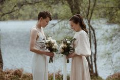 After seeing a mystical loch years before, Emily and Alba decided on a Glen Affric elopement complete with a post-wedding swim.   Image by The Caryls