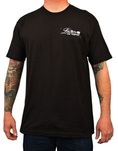 Men's Low Life by Adi Motorcycle Rider Traditional Tattoo Art T Shirt