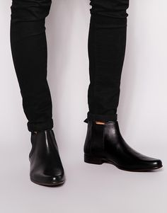 $73, Black Leather Chelsea Boots: Asos Brand Chelsea Boots In Leather. Sold by Asos. Click for more info: http://lookastic.com/men/shop_items/197771/redirect