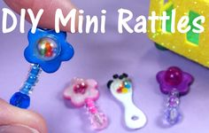 DIY Miniature Baby Doll Rattles
