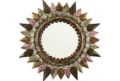 Mexican Tin Starburst Mirror