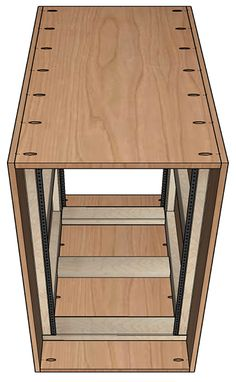 Free Woodworking Plans Free woodworking plans for an open frame or enclosed Server Rack for home or small office. I have a few rack mount servers that I.