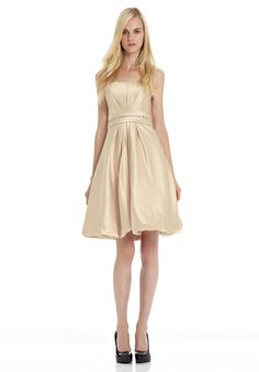 Intriguing Cream Flat Neckline Strapless Beads Working Ruched Cocktail Dress