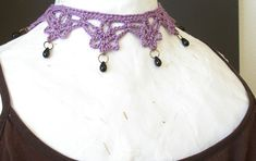 Just in time to get ready for the Halloween season, here's a brand new crochet pattern: The Mina Harker Necklace ! Bram Stoker's Victorian h...