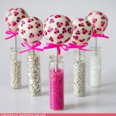 These cute cake pops could also go on my kids board because they'd be fun for a little girl's birthday party.
