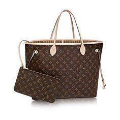 e8e9f9b48f3 1340 new Neverfull GM Luxury Louis Vuitton Monogram Canvas Handbag