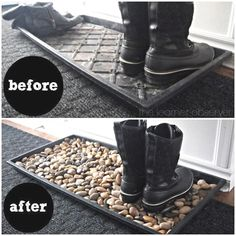 Pebble and Stone Crafts - Mudroom Pebble Mat - DIY Ideas Using Rocks, Stones and. - Daniela's Home Decor On A Budget - Pebble and Stone Crafts – Mudroom Pebble Mat – DIY Ideas Using Rocks, Stones and… – - Easy Home Decor, Cheap Home Decor, Diy Home Decor On A Budget, Diy Furniture On A Budget, Budget Crafts, Diy Casa, Stone Crafts, Home And Deco, Home Decor Accessories