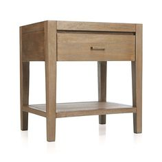 "Dawson Grey Wash Nightstand  | Crate and Barrel $399. C&B.  from Risa board 24""Wx18.5""Dx26""H"