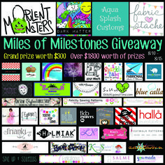 Miles of Milestones Giveaway!  http://opulentmonsters.com/blog/miles-of-milestones-giveaway/  #opulentmonsters #loveyourmonsters