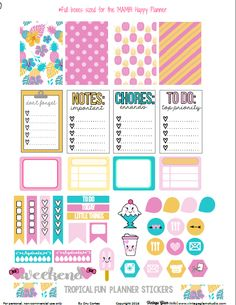Hello planner peeps ! It's Friday and the weather is super hot here in Southern California.   I haven't forgotten all of you Happy Planner fans and today I am releasing this fun tropical themed set of planner stickers.  The weather was my inspiration for this set, looking for ways to stay cool! These planner … … Continue reading →