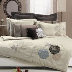 Fieldstone Embroidered King-Size 3-Piece Duvet Cover Set- No yellow, but I kind of like it..another maybe....