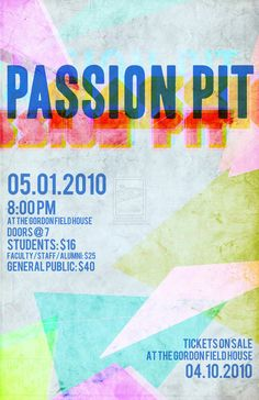 Passion Pit Poster
