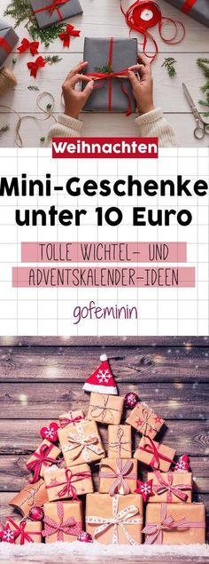 Für den Adventskalender oder zum Wichteln: hier kommen tolle Geschenkideen unter 10 Euro!