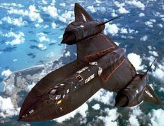 Lockheed's SR-71 Blackbird. Designed by Clarence Johnson and capable of Mach 3 flight. One of the coolest freakin' jets ever built.
