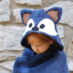 Fox Hooded Towel / Kids Hooded Towel / Baby Hooded Bath Towel #hoodedtowel #fox #bathtowel #beachtowel #woodland