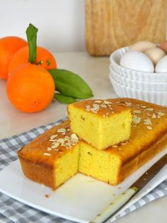 Bizcocho de naranja jugoso Cooking Chef, Cooking Time, Almond Cakes, Bubble Tea, Piece Of Cakes, Flan, Cake Cookies, Cake Pops, Cake Recipes