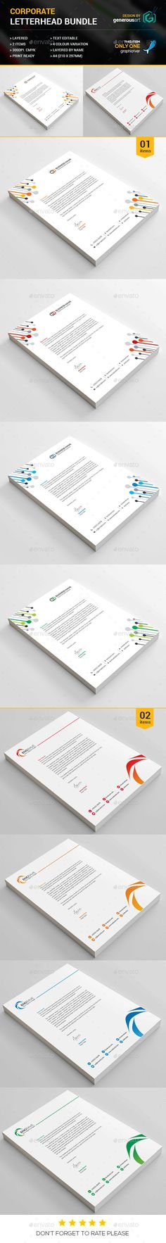 Corporate Letterhead  Cleanses Creative And Yellow