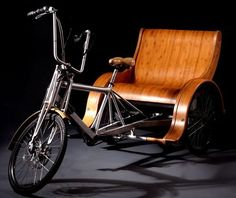 Thinking this is the way to go for the Little Dude Hauler. Well crafted wood seat with protective wood fenders
