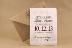 LEGEN...DARY -- Save the Date, Engagement Announcement, Outdoorsy and Funny