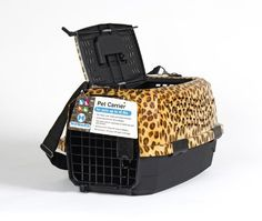 Lixit Animal Care Leopard Two Door Pet Carrier, 19' => For more information, visit now : Dog carrier