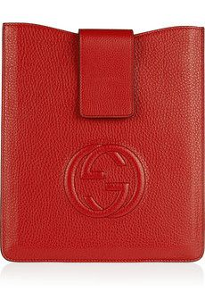 Gucci Soho GG textured-leather iPad sleeve | NET-A-PORTER