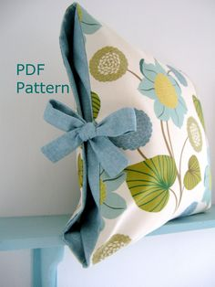 PDF Sewing Pattern Contrast Tied Cushion Cover by LillyBlossom