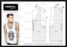 ModelistA: A3 NUMo 0034 REGATA MEN                                                                                                                                                                                 Mais Sewing Men, Mens Sewing Patterns, Clothing Patterns, Dress Patterns, Sewing Clothes, Diy Clothes, Pattern Fashion, Fashion Sewing, Mens Fashion